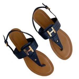 Tommy Hilfiger Sandals Size 8 Dark Navy